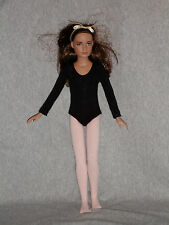 """Leotard and tights to fit 12"""" Tonner Marley & other 12"""" slim dolls"""