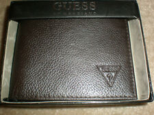 GUESS BROWN MEN'S WALLET NEW IN BOX LAST ONE TO SELL DOES NOT COME IN BOX