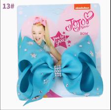 5 Inch Blue Cartoon JoJo Siwa Hair Bow With Alligator Clip Girl Kids Bowknot 013