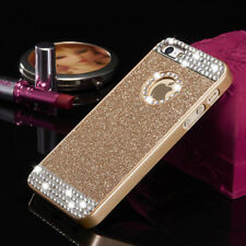 Fr iPhone 4 5 6S 7 8+ 3D Bling Glitter Sparkle Crystal Rhinestone Hard Back Case