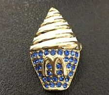 McDonald's China Staff Pin Pins Scarf Brooch Buckle Onarment Ice Cream Blue
