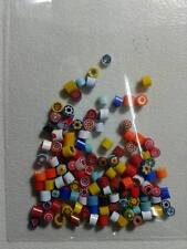 10 grammi murrine in foto murano glass millefiori multicolor  misura 3 mm