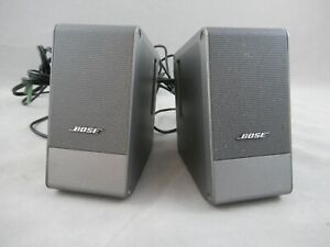 Bose Computer MusicMonitor Computer Desktop Speakers Complete Tested Working