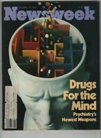 Newsweek Mag Drugs For The Mind & New Weapons November 12, 1979 060920nonr