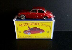 Matchbox Lesney 65b Jaguar 3.4 Litre & Box