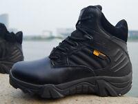 Men SWAT BLACK Delta Force Tactical Boots CQB Airsoft Security Cops FBI Police