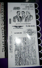 MEN LINES WINGS ANYONE CAN BE ORDINARY 8 RUBBER STAMPS STAMPERS WENDY VECCHI