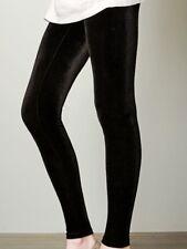 NEW High Waist Shiny Velvet Leggings Plush Soft Pants