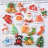 Random 2-3cm Christmas Glitter Embellishments Resin Cabochons Decors 10 pcs Pack