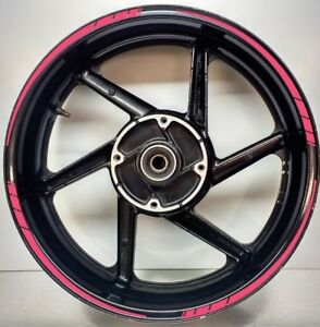 Tapered Motorcycle Wheel Rim PINK Tape stickers decal 10mm width 003