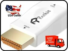 Rankie Gold-Plated Active HDMI to VGA Adapter (White)