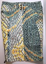 100% Auth Robert Cavalli Women's Snake Print Pencil Skirt Size US 8 Eur 44