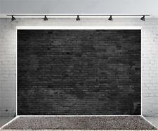 6x4fT Black Brick Wall Photography Background Backdrops Studio Props Vinyl