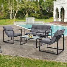 [casa.pro] Sitzgruppe Gartenmöbelset Gartenstühle Gartentisch Garten Sofa Lounge