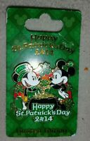 Disney St Patricks Day 2014 Mickey and Minnie limited edition pin
