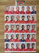 31 Autogrammkarten AK FC BAYERN MÜNCHEN FCB 16/17 2016/2017 Autogrammkartensatz