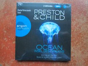 """Preston & Child """"OCEAN  - INSEL DES GRAUENS"""",2 mp3-CDs,neu,OVP,ohne Porto"""