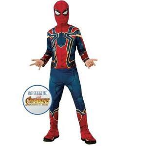 Kids Marvel Avengers Spiderman Iron Spider Superhero Fancy Dress Costume