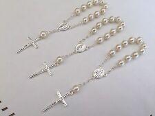 50 Mini Rosary OFF WHITE Baptism Favors/recuerdos de bautizo/ communion favors