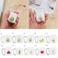 Charging Box Clear PC Protective Cartoon Pattern Case Cover For Airpods1 2