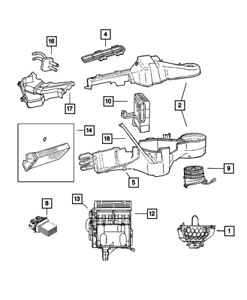Genuine MOPAR Blower With Wheel Motor 4885475AC