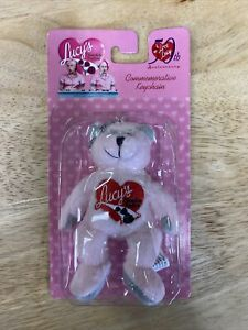 ** I Love Lucy 50th Anniversary Lucy's Chocolate Factory Beanie Baby keychain **