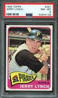 1965 TOPPS #291 JERRY LYNCH PSA 8 PIRATES NICELY CENTERED  *K2663