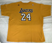 Los Angeles Lakers Kobe Bryant #24 Adidas T Shirt Size 2XL