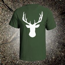 Deer Head 1 hunting vintage style graphic t shirt tee browning mossberg ruger