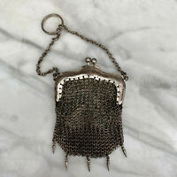 Antique French Victorian Mesh Chatelaine Coin Purse