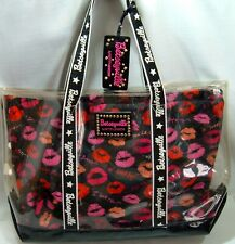"""Betseyville Clear PVC Tote Bestey Johnson Removable Lining Lips 20"""" L Sweet Nick"""