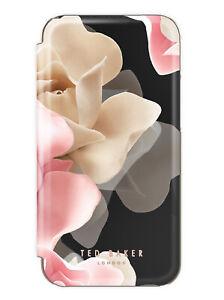 Ted Baker® KNOWANE Mirror Folio Case for iPhone 12/12 Pro Porcelain Rose Black
