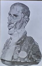 Clay Bust of Persil, Honoré Daumier, Magic Lantern Glass Slide
