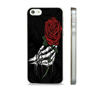 SKELETON HAND ROSE GOTHIC ART  PHONE CASE COVER FITS All APPLE IPHONE MODELS