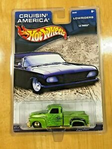 Hot Wheels La Troca Pickup Truck Cruisin' America Lowriders Detailed Collectible