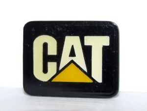 "Caterpillar CAT Logo Lapel Hat Pin Tie Tac Badge .75"" Enamel & Metal   Peoria IL"