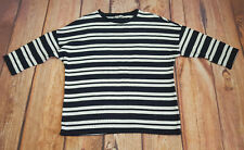 Tu Size 16 Navy & White Striped Jumper 3/4 Sleeves