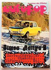 AUTOPOP N°20 (MARS 1973) AVEC POSTER LA SAAB , SIMCA RALLYE 2