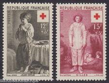 FRANCE - 1956 Red Cross Fund (2v) - UM / MNH