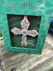 Reed & Barton Silver Plate  Ornament and Box -- Dresden Rose Cross   new