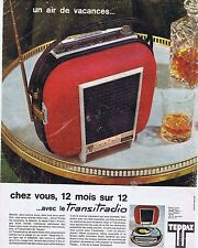 PUBLICITE ADVERTISING 114 1963 TEPPAZ le transitradio