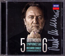 Riccardo Chailly SIGNED Beethoven Symphony 5 & 6 pastorali Coriolan gewandhuas CD