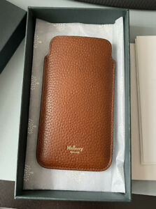 Mulberry Natural Grain Leather iPhone Cover, Oak