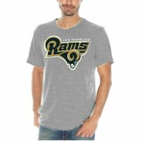 Majestic NFL Apparel LA Rams Short Sleeve Printed Tee Heather Big & Tall Sizes