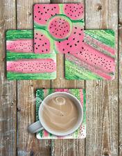 Watercolour Watermelon Drink Coasters Set of 4 Non Slip Neoprene