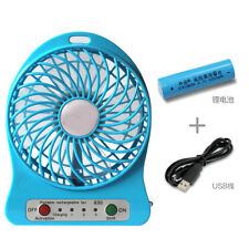 Portable Mini Small Table Fan USB 3-mode Lithium Battery Rechargeable Fan