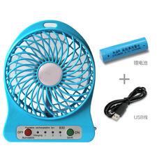 Portable Mini Small Table Fan USB 3-mode Lithium Battery Rechargeable Fan
