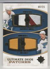 RYAN KESLER & DAVID BACKES 2010-11 ULTIMATE COLLECTION PATCHES DUOS 25 MADE MINT