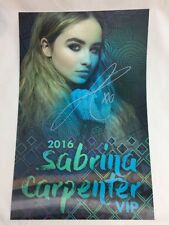 Disney's Sabrina Carpenter Signed VIP Tour Poster AUTOGRAPH Genuine RARE