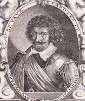 Portrait XVIIIe Comte De Bucquoy Charles De Longueval Bataille Zablati  1786